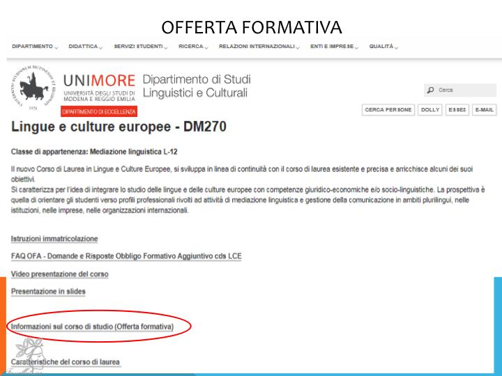 Cách xem offerta formativa (2)