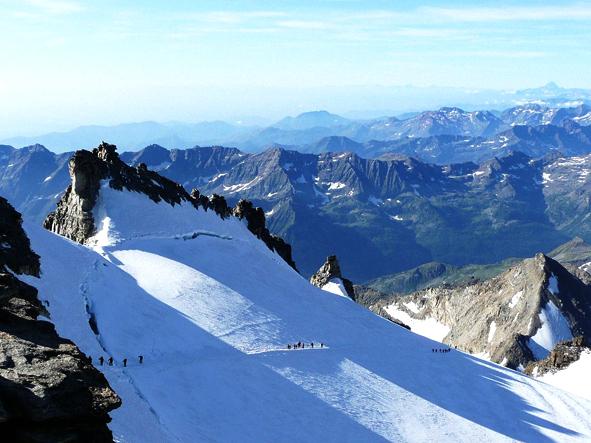 Gran Paradiso Favellatrice Leo núi ở Ý