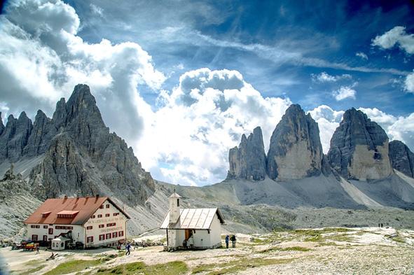 tre-cime-di-Lavaredo Leo núi ở Ý