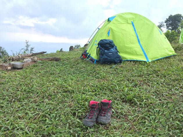 Cắm trại núi chứa chan