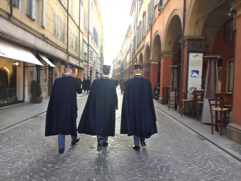 Học viên học viện quân sự Academia militare ở Modena