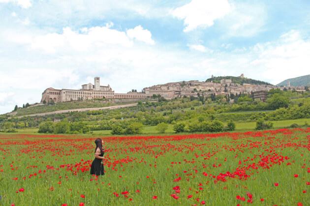 Assisi ở lưng chừng đồi