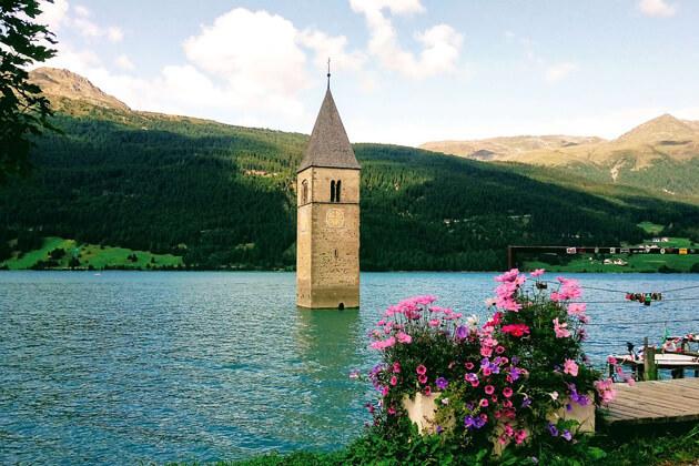 Lago di Resia - Hồ ở Ý đẹp nhất